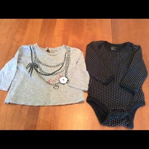 (2) Baby Gap long sleeve tops - size 6-12 months.